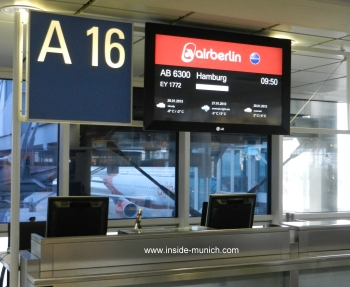 Air Berlin counter at airport Munich
