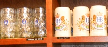 Authentic Munich beer steins