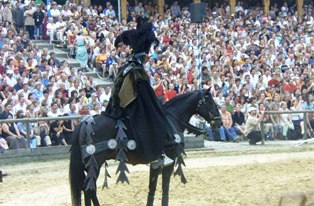 The bad Black Knight at the Knights Tournament in Kaltenberg