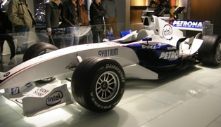 Real BMW Formula 1 car in exhibition at BMW World in Munich
