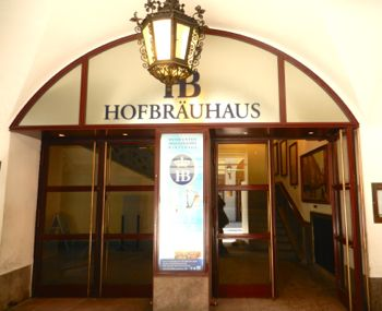 The entrance to the beer hall