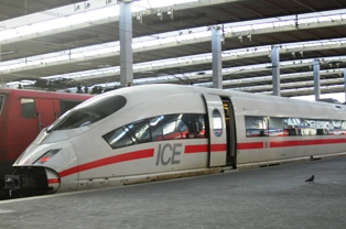 ICE train at central station Munich