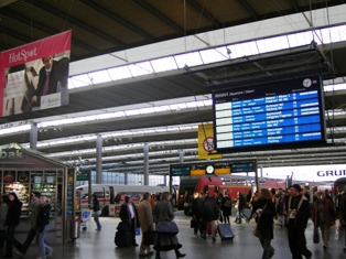 Concourse at central station Munich