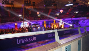 Olympic Hall in Munich hosting Six Days Cycling Event