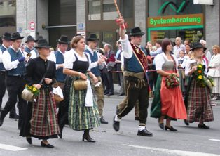 Traditional Bavarian Tracht worn during Opening ceremony for Oktoberfest